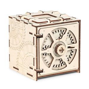كود الشفرة صندوق الإيداع 3d الألغاز الميكانيكية خشبية نموذج لغز ألعاب تعليمية الجمعية وخطوات خياطة مفصلة