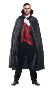 Shanghai Story Hot sale New Style Halloween Vampire Cosplay Costume Party Clothing for adult man costume set with cloak Black