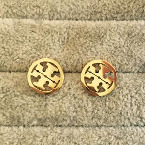 3 цвета Лучшие качества Экстравагантный дизайн Stamp серьги уха шпильки из нержавеющей стали серьги для женщин обруча Оптовая продажа ювелирных изделий