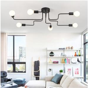 Envío gratuito Nordic lámpara de techo creativo restaurante de viento industrial minimalista personalidad lámpara moderna habitación moderna sala de estar