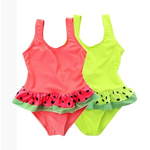 2019 New Swimsuit Children One Piece Swimwear Pretty Dot Skirt Ruffled Swimsuit for Girl Swimwear Baby Bikini