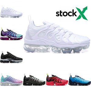 2020 Nike air max Vapormax Tn plus New airmax Tn flyknit corsa Persico Violet Midnight Navy Gioco Reale Triple Donne Designer Sneakers Trainers
