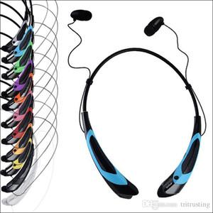 HBS 760S Auriculares Auriculares Bluetooth Deporte Bluetooth Altavoz Banda para el cuello Auricular Bluetooth 4.0 con paquete al por menor MQ100