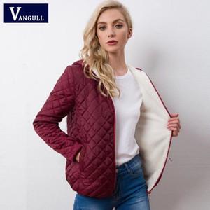 Sonbahar 2018 Yeni Parkas temel ceketler Kadın Kadın Kış artı kadife kuzu kapşonlu Palto Pamuk Kış Ceket Bayan Dış Giyim coat