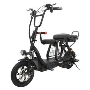 Scooter elétrico de duas rodas de 12 polegadas bicicleta elétrica Adultos 400W 48V portátil dobrável Powerful Electric Bike Com Basket Pet