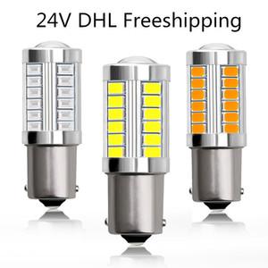 24V Hot Vente S25 1157 1156 33smd 5630chip 7W bulbe frein signal voiture conduite automatique tourner la lumière inverse