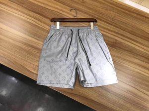 tela impermeable verano doble impresión GG carta pantalones cortos de baño de secado rápido tendencia hombres de alta gama marca de moda casual casual pantalón de playa