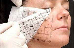 10pcs / lot Augen-Gesicht Körper Verwenden Gitter Gedrucktes Papier für Thermag Fractional RF Lifting Faltenentfernung Maschine Thermagic Papier Lattice