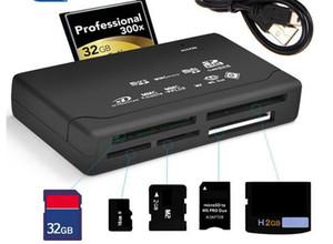 Universal Micro All in One Memory Card Reader USB externa SD SDHC Mini Micro M2 MMC XD CF leitura e gravação de cartões de memória flash