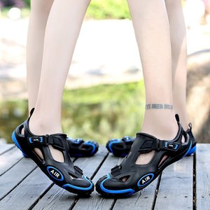 Outdoor Sport Women Water Aqua Shoes Breathable Rubber Anti-Slippery Summer Beach Comfortable Sandals Shoes Men Large Size Shoes