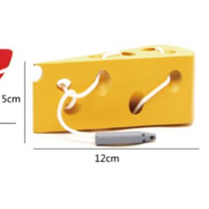 Wooden Education Baby Kindergarten Mouse Thread Cheese Plaything Early Learning Education Toys Montessori Teaching Aids Math Toy