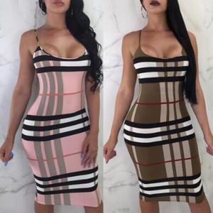 Fashion-Summer Womens Dress Style européen et américain Sexy Robe moulante Sexy Bandage Sexy Longueur Au Genou Femme Moulante Vêtements