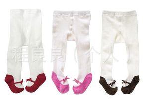 New Style BABY'S Non-slip Socks Velvet Really Bow Patyhose 3-Color Group Panty-hose for Kids Panty-hose