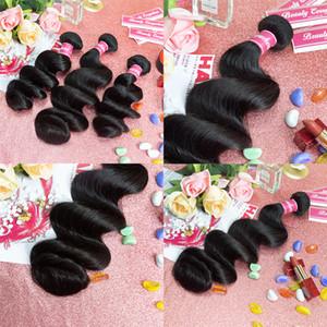 8-28 inç vücut dalga insan saç demetleri 3 4 adet Perulu ipeksi düz insan saç uzantıları gevşek dalga bakire saç örgü demetleri