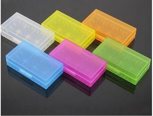 18650 18350 pil taşınabilir plastik temizle kılıfları / Temizle Pil Kutusu için 18650 18350 Piller DHL ücretsiz kargo