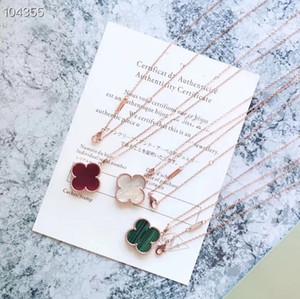 Vintage Alhambra Marke S925 Sterlingsilber Big Turquoise Four Leaf Clover 90CM lange Strickjacke-Halskette für Frauen Schmuck
