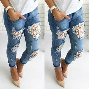 CFYH Apparel Boyfriend hole ripped jeans women pants Cool denim vintage straight jeans for girl Mid waist casual pants female
