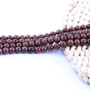 Mahagony obsidian Bead Stone Loose Bead Free Shipping 15 inch strand per set For Jewelry Diy