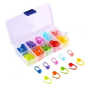 MIUSIE Mix Renk Plastik Örgü Araçları Kilitleme Dikiş İşaretleyiciler Reçine Küçük Klip Örgü Araçları Tığ Hook Clip iğne