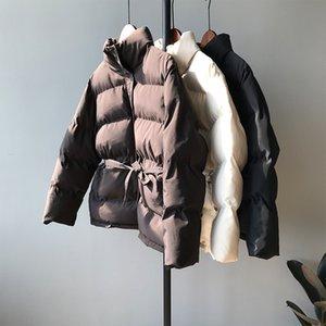 HXJJP 2019 donne Giacche invernali New coreano Mock Neck sciolti All-around Lace Up Warm Giù cappotto del cotone Female0616