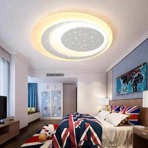 Dia450 / 600мм детская комната спальня современная светодиодная люстра простой современный мальчик девочка мультфильм креативные звезды светодиодные люстры светильники