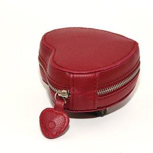 Bilezik Orijinal deri Takı kutuları Hediye çanta Kutusu İçin Pandora Charms Packaging En kaliteli Kırmızı Deri Kalp Takı Ekran