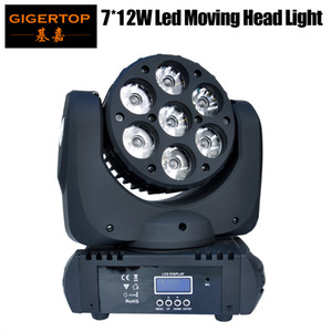 LED luminoso RGBW Super Freeshipping 7x12W 4in1 Moving Head fascio-4 in 1 capa commovente del fascio di luce 100V-240V 90W LED fascio di luce