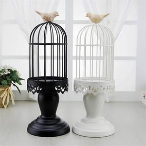 Novos 1 PC altos grande casamento feriados Bird Cage Lanterna Início Decoração decorativa Piso castiçais Metal Ferro Decorações para a Casa