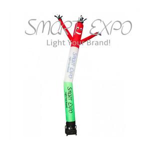 Customized Single Leg Sky tubo gonfiabili pubblicitari Air Dancer per corsa o promozione con stampa personalizzata e Base Blower Ø0.46x6m
