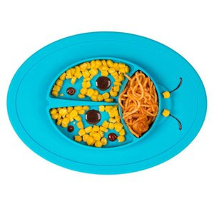 Kids Silicone Plate Anti Skid Feeding Tableware Baby Food Container Infant Dinnerware Set Dishes Children Bowls Placemat Promoti
