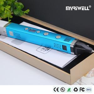 myriwell rp stylo 3d 100c 1.75mm abs FilaMen plastique stylo imprimé pla 3d 3 d intelligent enfants de cadeau d'anniversaire poignée alimentation USB