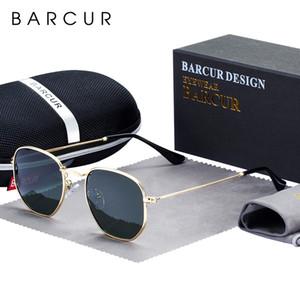 CY200520 marco BARCUR clásico retro reflectantes gafas de sol gafas de sol hombre de Hexagon metal Gafas Gafas de sol con la caja Gafas de Sol Gafas