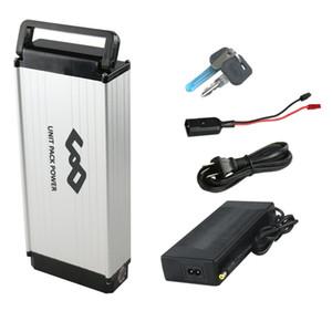 UPP arka raf lityum pil 48 v 10Ah e-bike li-ion 48 v pil 750 w 500 w için elektrikli bisiklet