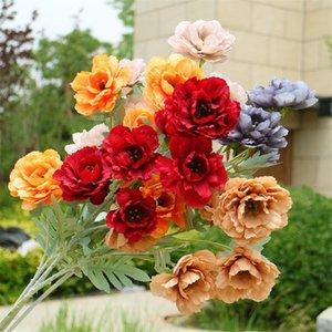 """Faux longue tige hibiscus rose (6 têtes / pièce) 33.07 """"Simulation de longueur Hibiscus pour mariage de mariage fleurs artificielles décoratives"""