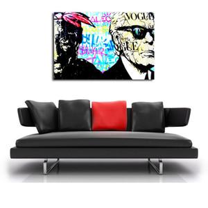 Алек Монополис Хакур абстрактное искусство стены картина маслом плакат холст Живопись картины для гостиной домашнего декора