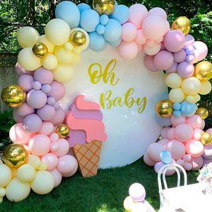 Qifu البالونات المكرونة طوق اللاتكس بالونات قوس سعيد عيد حزب ديكور أطفال الكبار الزفاف بالون سلسلة استحمام الطفل بالون T200612