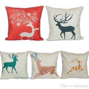 Joyeux Noël Père Noël Taie d'oreiller Elk Throw Imprimer Linge de maison Taie New Year Party Supplies décoratif pillowslip
