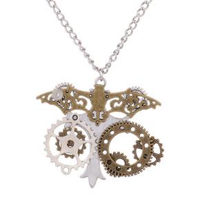 Collana Steampunk Retrò gotico Victorian Industrial Gears Jewelry
