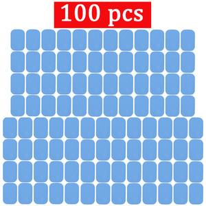 100 unids Reemplazo Abs Gel Pads Muscle Stimulator Dispositivo de Entrenamiento Corporal Almohadillas de Gel Para Ems Abdominal Abs Trainer Gel Parche J190706