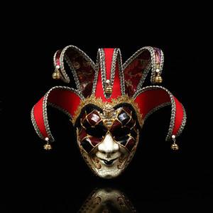 3 couleurs Party Jester Jolly Masques pour Halloween Designer clown masque facial créatif fête Mascherine Masque