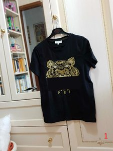 20s Verão de T para homens cobre Cabeça do tigre Carta Bordado T shirt dos homens roupa de manga curta Camisetas Mulheres Tops S-2XL