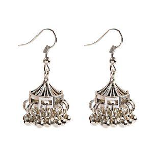 Etnico argento tetto dei monili delle signore orecchini tibetano estate nappa ORECCHINI orecchini indiani
