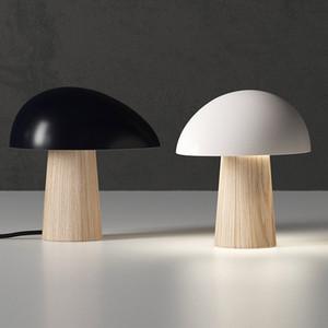 Nordic Modern Mushroom Table Lamp Simple Fashion Designer Desk Lights for Living Room Decoration Bedroom Bedside Study Reading