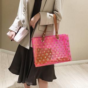 Tasarımcı-Ms. Bez Şeffaf Jelly Mdm Çanta Bayan Çantaları Bayan Akşam Çanta Mama Moda Omuz Çantası 1hao / 3