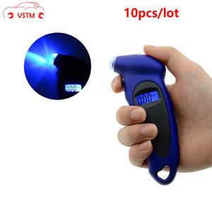 Araba Gauge İzleme Yüksek hassasiyet Lastik Basınç Göstergesi 0-150 PSI Arka Işık Dijital Lastik Basınç 10pcs / lot