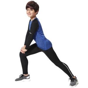 Çocuklar spor Çocuklar sıkıştırma kostüm için Çocuk rashgard kiti Spor Wear spor çabuk kuruyan eğitim Boy spor uyacak