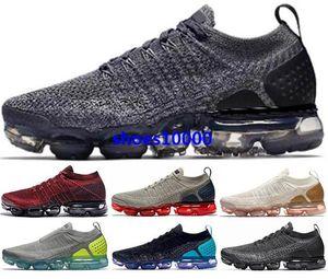 الهواء VM تشغيل الأبخرة الاحذية أحذية رياضية 2019 رجل إمرأة حجم لنا 5 12 46 Zapatos رجل يطير متماسكة ماكس جديد وصول 2019 chaussures الأسود