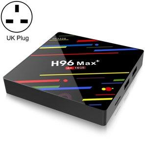 H96 ماكس + 4K الترا HD شاشة LED ميديا بلاير الذكية التلفزيون صندوق مع وحدة تحكم عن بعد، أندرويد 9.0، النسخة الصوتية، RK3328 رباعية النواة اللحاء 64BIT