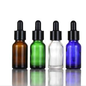 Oil For Dropper Bottles Empty Amber Black Green Clear 15ml Glass Bottle Dropper Blue Gold Lids With E Liquid Perfume Nrore