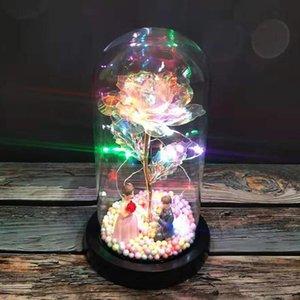 Konuklar için VOILEY Sevgililer Günü hediyesi LED Ebedi Yapay Çiçekler Düğün Hediye Sevgililer Günü Dekor Gelinlik Hediyeleri